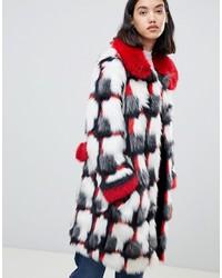 Manteau de fourrure multicolore Urbancode