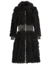 Manteau de fourrure noir Alexander McQueen