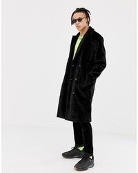 Manteau de fourrure noir ASOS DESIGN