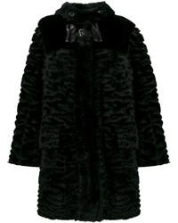Manteau de fourrure noir Fendi