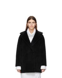 Manteau de fourrure noir Harris Wharf London