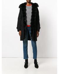Manteau de fourrure noir Ermanno Scervino