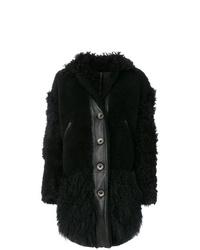 Manteau de fourrure noir Kenzo
