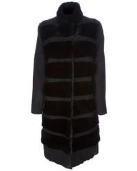 Manteau de fourrure noir Lanvin
