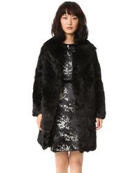 Manteau de fourrure noir Marc Jacobs