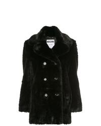 Manteau de fourrure noir Moschino
