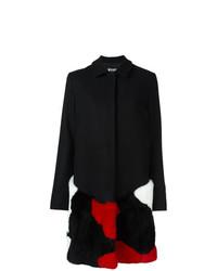 Manteau de fourrure noir MSGM