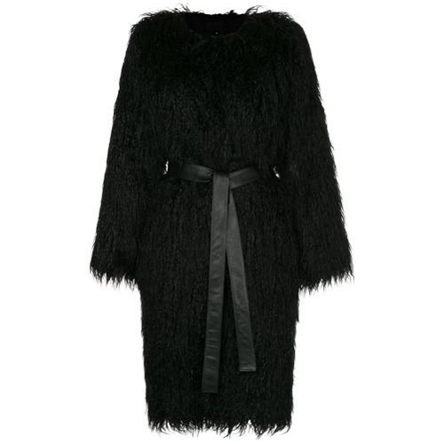 Manteau de fourrure noir Nili Lotan