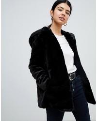 Manteau de fourrure noir Pimkie