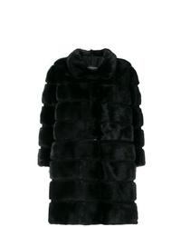 Manteau de fourrure noir Simonetta Ravizza