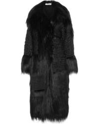 Manteau de fourrure noir Stella McCartney