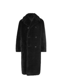 Manteau de fourrure noir Stella McCartney