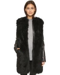 Manteau de fourrure noir Vince