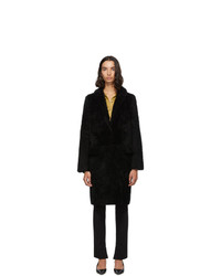Manteau de fourrure noir Yves Salomon Meteo