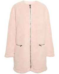 Manteau de fourrure rose
