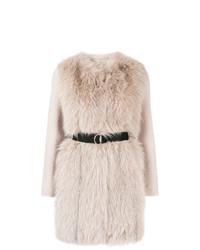 Manteau de fourrure rose Blancha
