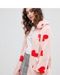 Manteau de fourrure rose Daisy Street