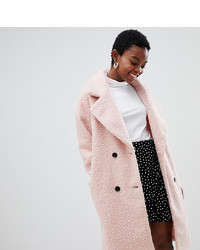 Manteau de fourrure rose Glamorous Petite