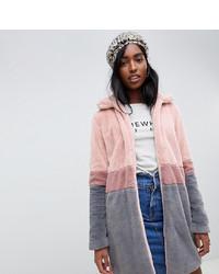 Manteau de fourrure rose Glamorous Tall