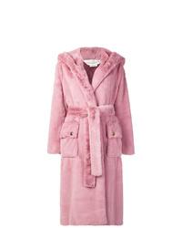 Manteau de fourrure rose Golden Goose Deluxe Brand