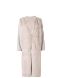 Manteau de fourrure rose Liska