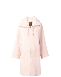 Manteau de fourrure rose Liska