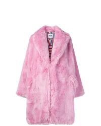 Manteau de fourrure rose MSGM
