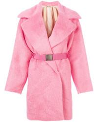 Manteau de fourrure rose No.21