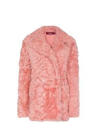 Manteau de fourrure rose Sies Marjan