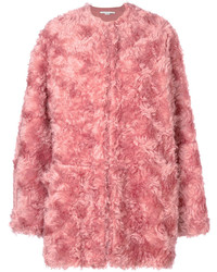 Manteau de fourrure rose Stella McCartney