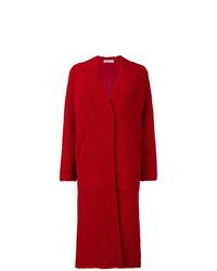 Manteau de fourrure rouge Inès & Marèchal