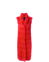 Manteau de fourrure rouge Liska