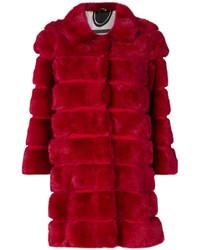 Manteau de fourrure rouge Simonetta Ravizza