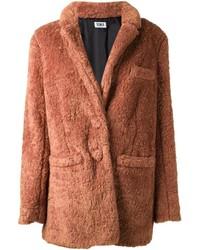 Manteau de fourrure tabac