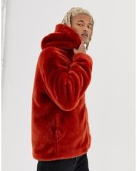 Manteau de fourrure tabac ASOS DESIGN