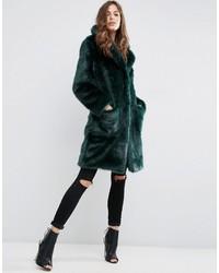 Manteau de fourrure vert foncé Asos