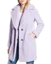 Manteau de fourrure violet clair