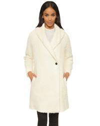 Manteau duveteux blanc Vince