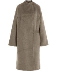 Manteau duveteux marron