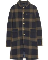 Manteau écossais bleu marine