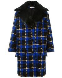 Manteau écossais bleu marine Marni