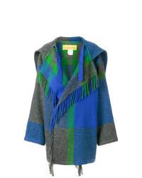 Manteau écossais bleu