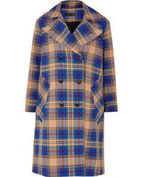 Manteau écossais bleu Rag & Bone