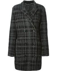 Manteau écossais gris foncé