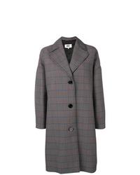 Manteau écossais gris foncé MM6 MAISON MARGIELA