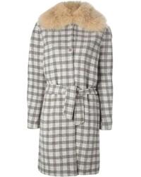 Manteau écossais gris Agnona