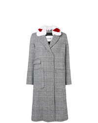 Manteau écossais gris Ava Adore