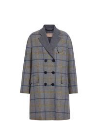 Manteau écossais gris Burberry