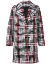 Manteau écossais gris Carven