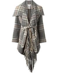 Manteau écossais gris Chloé
